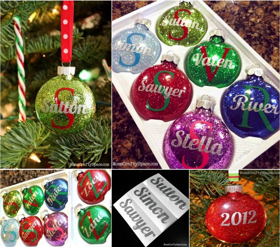 Christmas Decorations With Names On Them: Ideas & Products: Personalised Glitter Ornament