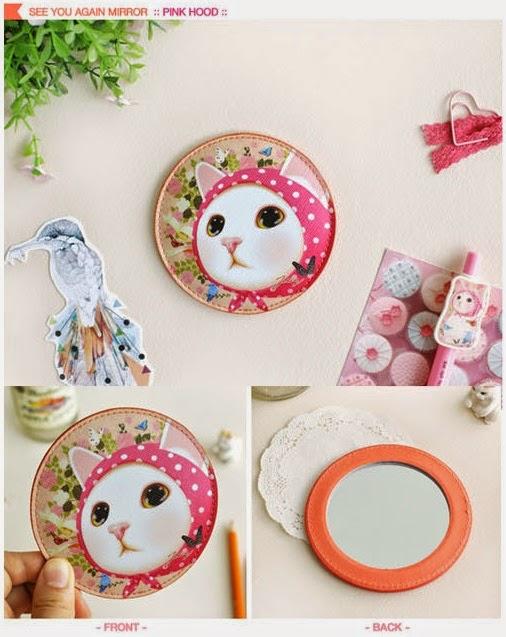 [代購] 韓國 JETOY 可愛貓貓鏡子 (已包韓國至香港EMS運費) (貨品編號: AC140617F) ~ Secret Fashion