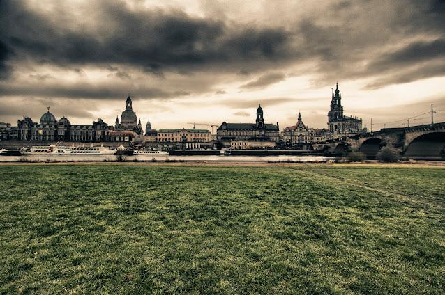 Dresda sul fiume Elba