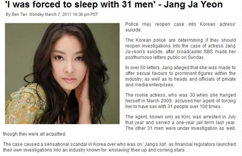 Pelecehan Seksual artis korea skandal
