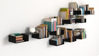 Contoh Rak Buku Minimalis