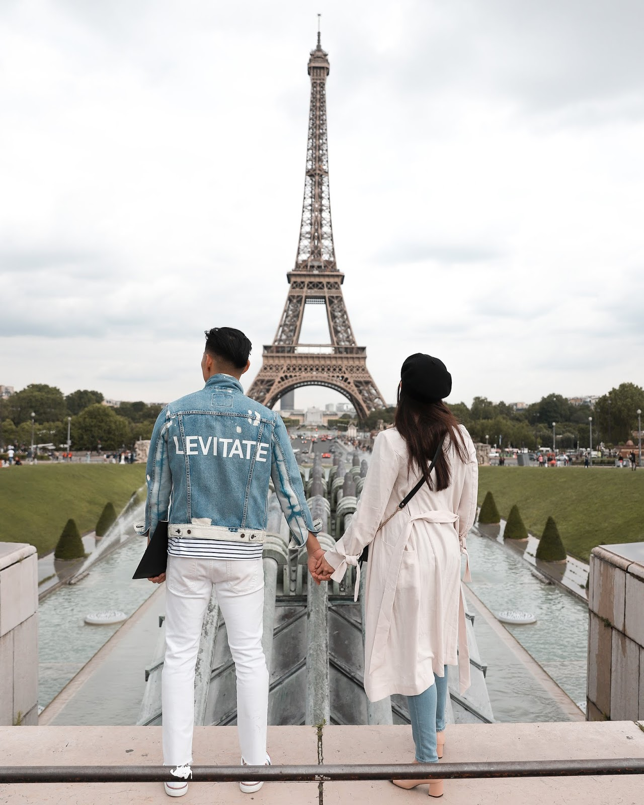 Alicia Mara and Leo Chan at the Eiffel Tower