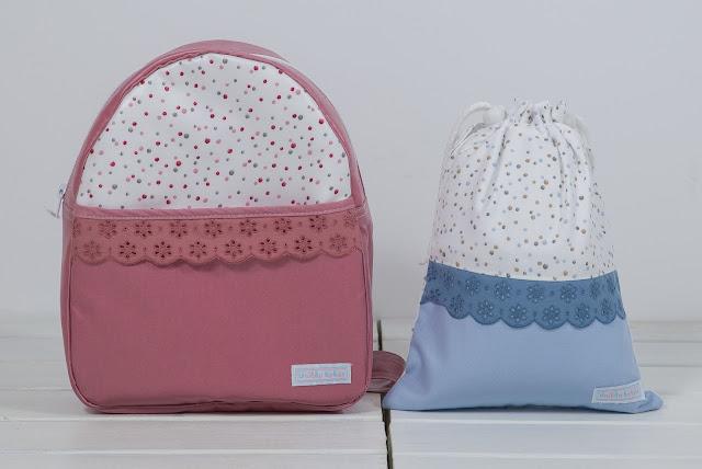 mochila rosa guarderia