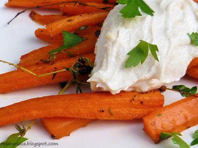 Honey Roasted Carrots w/ Tahini