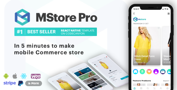 MStore Pro v3.9.2 - Complete React Native template for e-commerce