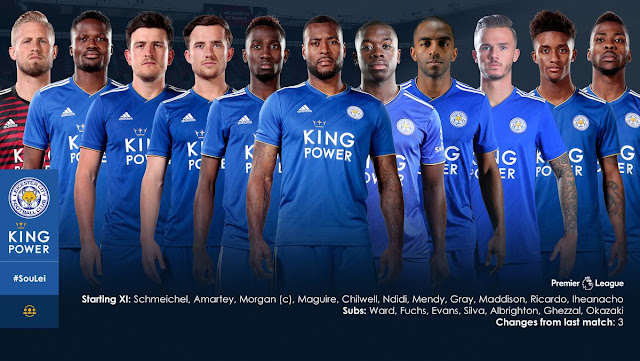 Leicester starting xi vs Southampton