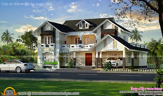 European style house in Kerala