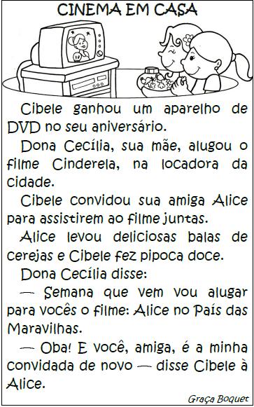 Texto CINEMA EM CASA, de Graça Boquet