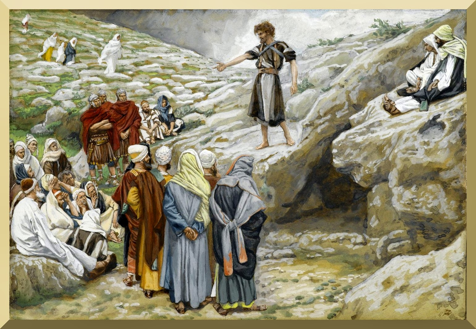 """Saint John the Baptist and the Pharisees"" -- by James Tissot"