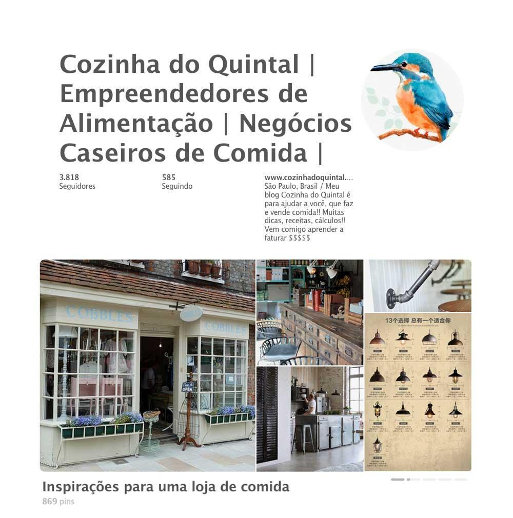 Cozinha do Quintal no Pinterest: Inspirações para uma Loja de Comidas