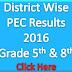 District Wise Gazette PEC Result 2016 Grade 5 and Grade 8