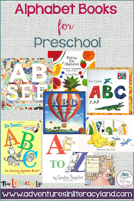 Alphabet books for preschoolers should be simple with easy pictures.