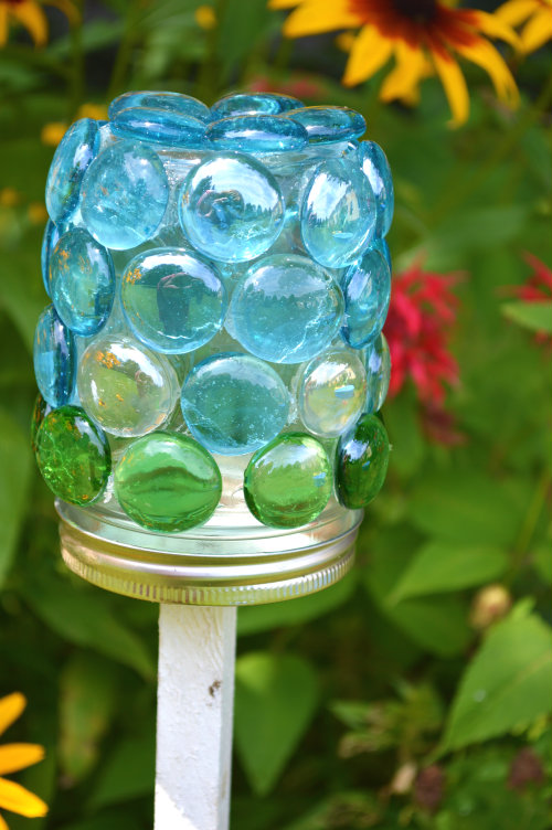 Marvelously Messy  Mason Jar Glass Gem Craft