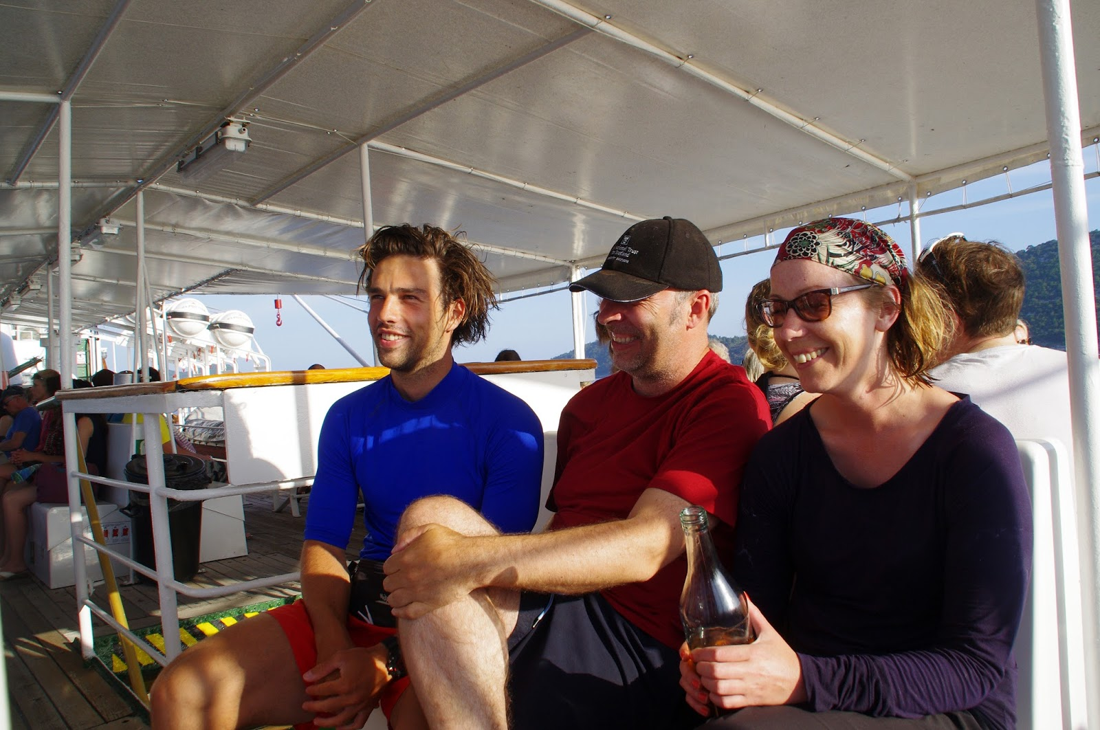 Adriatic Kayak Tours Group on ferry back to Dubrovnik