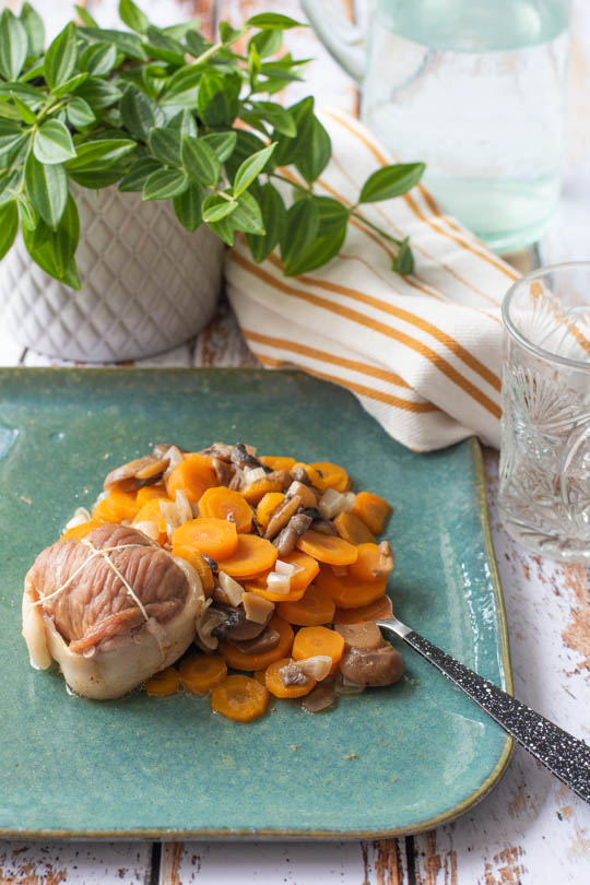 recette Paupiettes et carottes au vin blanc