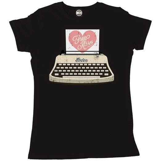Typewriter Loveheart T-shirt for Women
