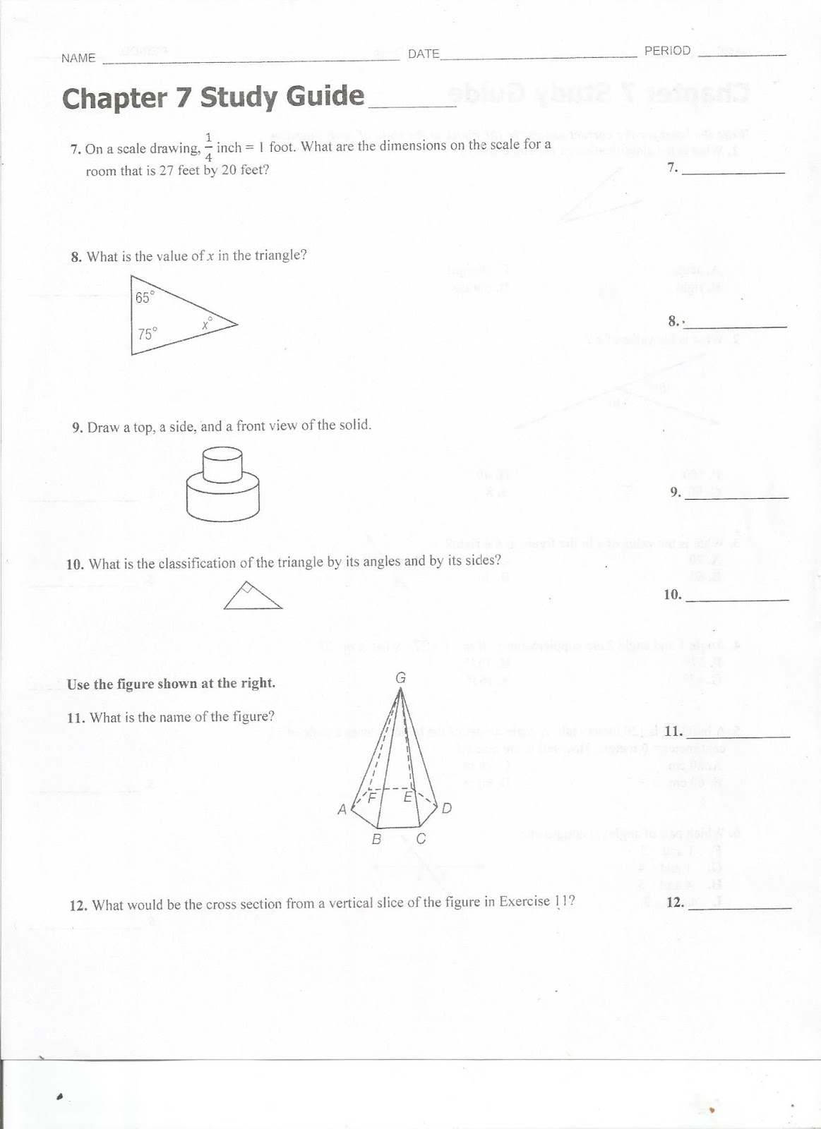 Dilations Scale Factor And Classification Worksheets