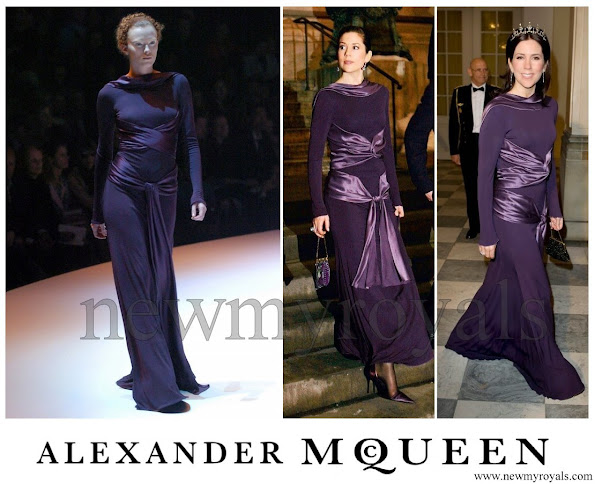 Crown Princess Mary wore Alexander McQueen dress, Fall 2004 RTW collection