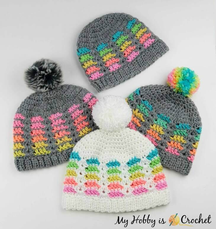 My Hobby Is Crochet Prisma Hat Free Crochet Pattern In Multiple Sizes