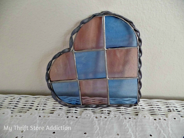 Friday's Find #131  mythriftstoreaddiction.blogspot.com This week's fabulous features including a vintage stained glass heart.