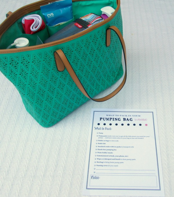 Pumping essentials for pumping breastmilk at work: What to include in your pump bag and a free printable checklist