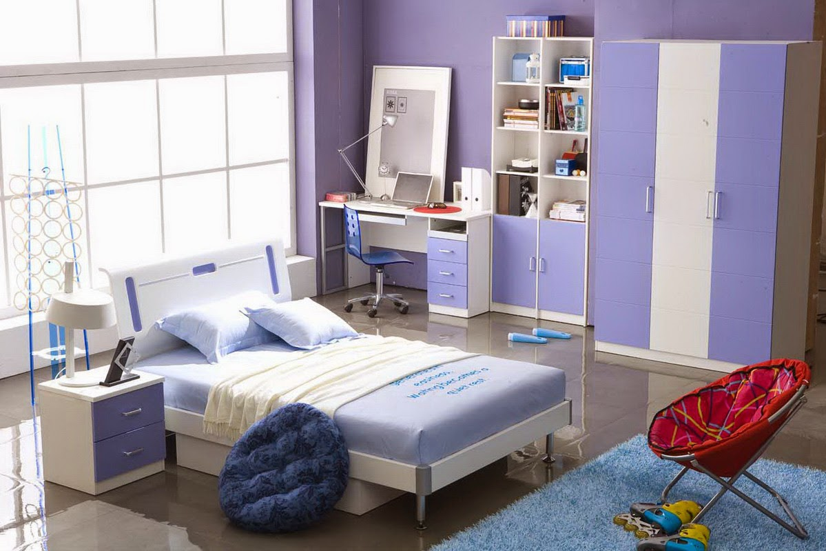 Chambre Fille Ado Bleu | Chambre Bleue Fille