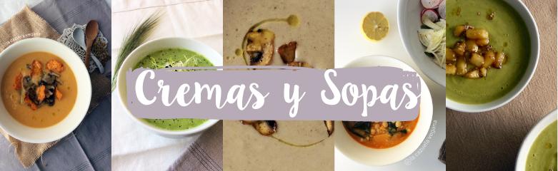 Cremas y sopas de La Cazuela Vegana