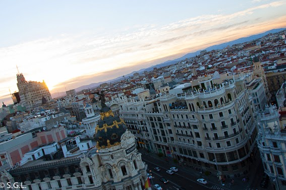 Vistas desde la terraza del circulo de bellas artes. Madrid