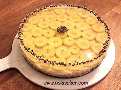Muzlu jöleli pasta tarifi nasıl yapılır kolay lezzetli videolu nefis tatlı yemek tarifleri banana cake dessert recipe delicious taste tasty yummy