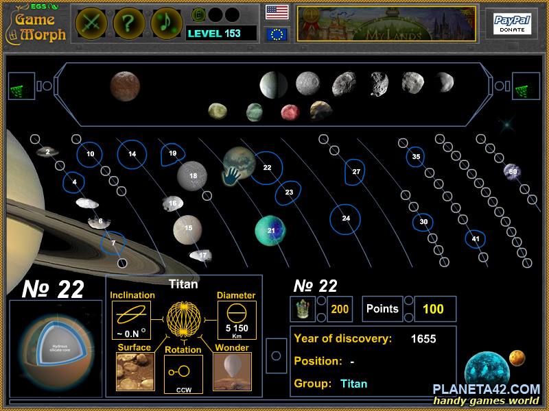 Saturn Moons Screenshot