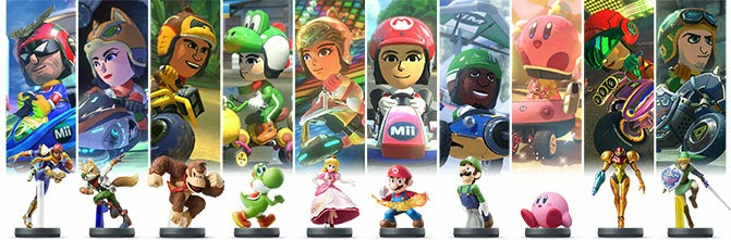 Mario Kart 8 Amiibo Costumes for Mii
