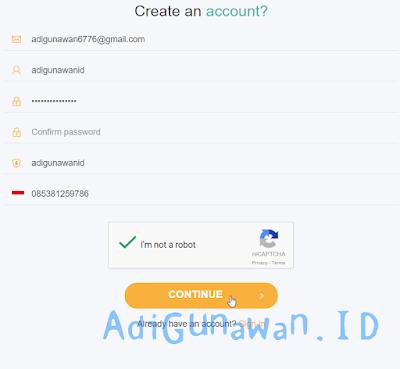 Daftar akun UcoinCash (UCH)