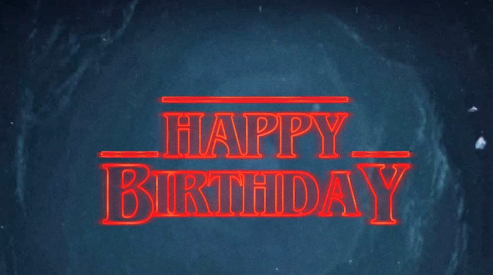 "Finally, a search for ""Stranger things"" font led me to the Stranger Things Type Generator from which I produced a ""Happy Birthday"" in the Stranger Things ..."