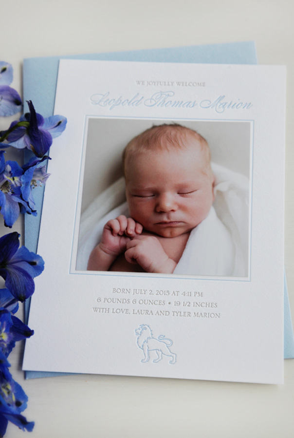 Letterpress Birth Announcements Sweetly Said Press