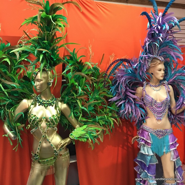 Carnival costumes at Ronnie of Ronnie & Coro Mas Camp costumes in Port of Spain, Trinidad