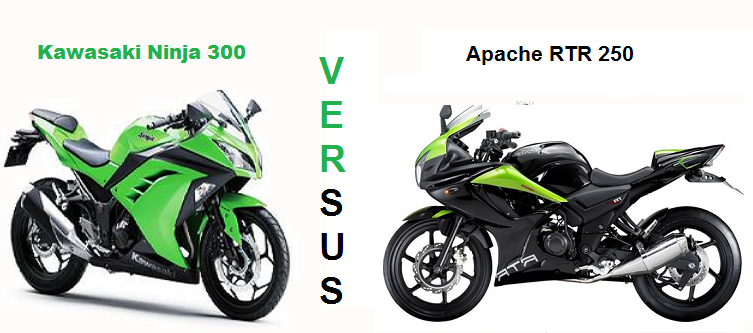 Kawasaki Ninja 300 Vs Apache RTR 250 Comparison