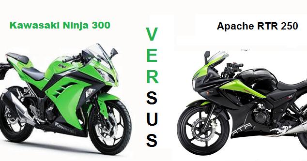 TVS Apache RTR 250 Vs Kawasaki Ninja 300