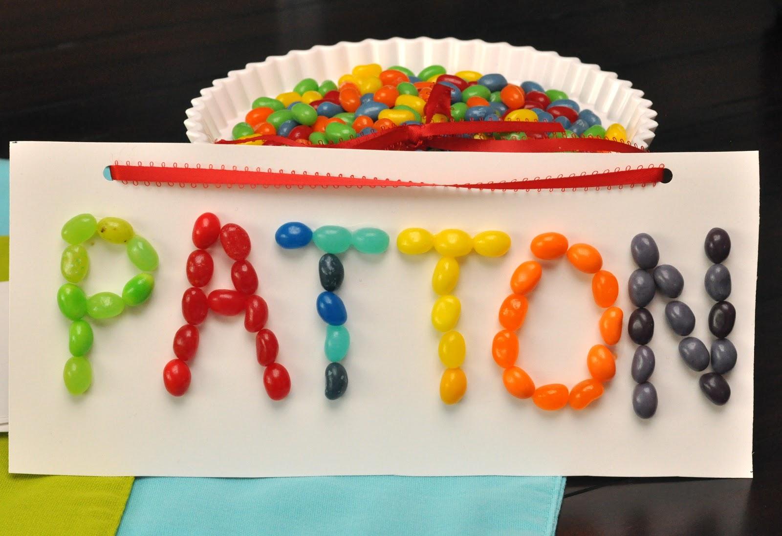Rainbow Jelly Bean Birthday Party Ideas