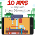 10 Best Home Improvement Apps for iOS and Android - Infographic