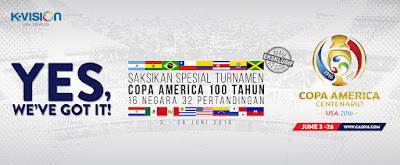 Paket Copa America 2016 K Vision