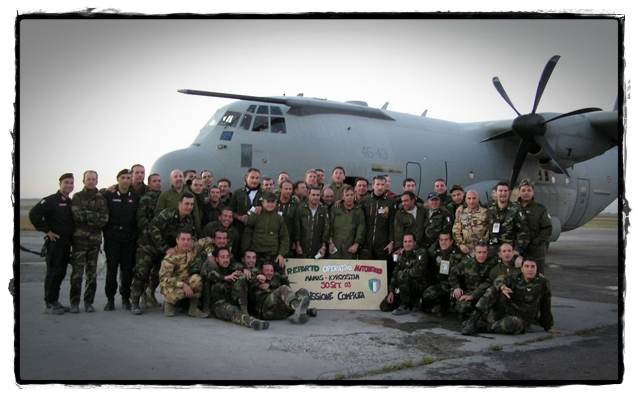 The Italian C-130 squadron just before they rotated out.