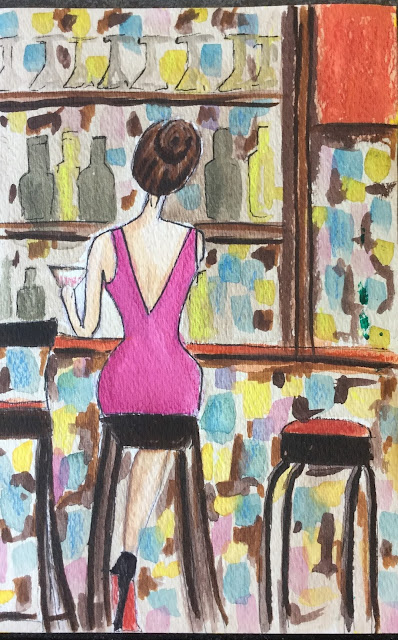 Sprinkle On Glitter Blog// Instagram Roundup//girl at bar