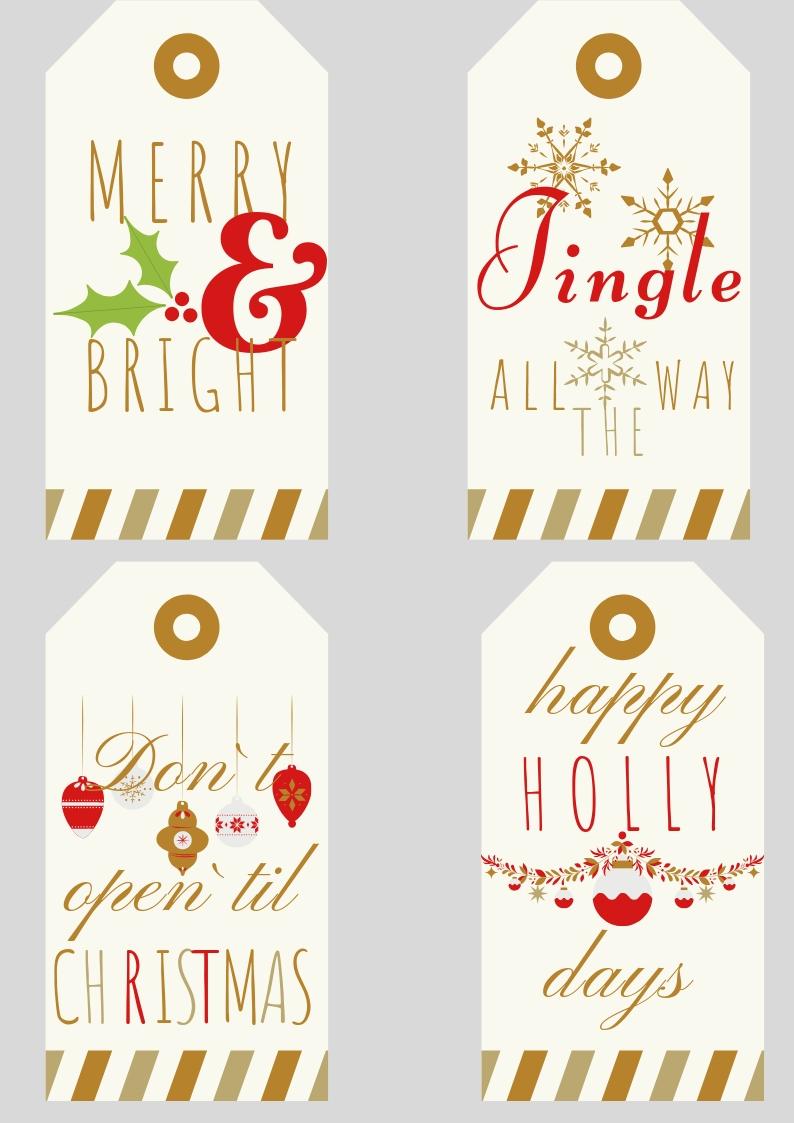 Free Printable Christmas Gift Tags | Home Chic Club: Free ...