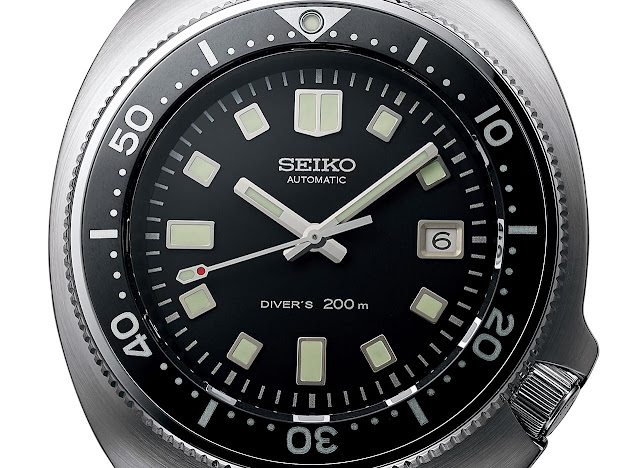 The dial of the Seiko Prospex 1970 Diver's Re-creation