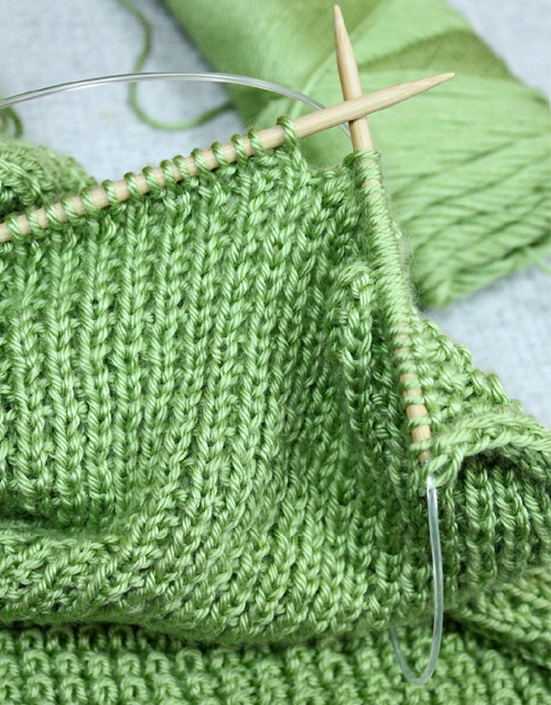 Rice Stitch Baby Blanket - Free Knitting Pattern