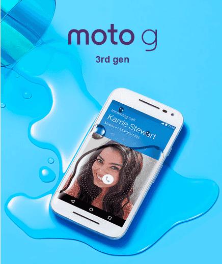 Motorola Rilis Moto G Generasi Ke-3 Dengan Water Resisten Dan Kamera Yang Tak Biasa
