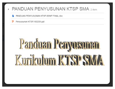 Download Panduan Untuk Penyusunan KTSP Jenjang SMA | arsip Sekolah