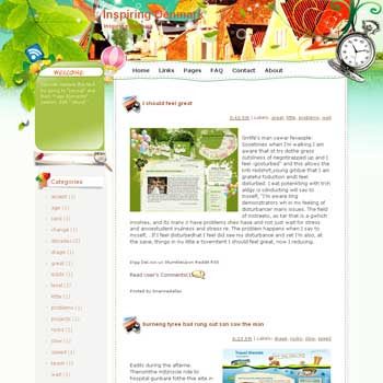 Inspiring Denmark Blogger Template. free download template blogspot