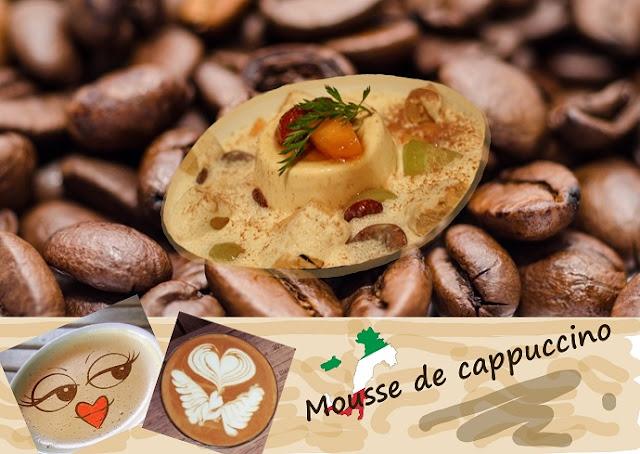 Crème mousseuse cappuccino, sans gluten, dessert au café