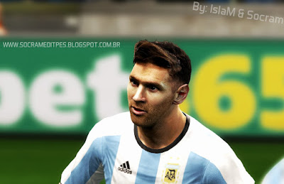 PES 2013 Lionel Messi Face by IslaM & Socram